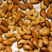 Almonds and Cashews After Roasting