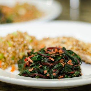 Sautéed Red Kale