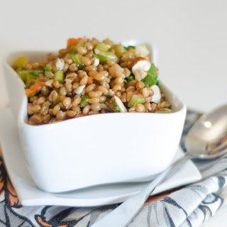 Wheatberry and Almond Salad