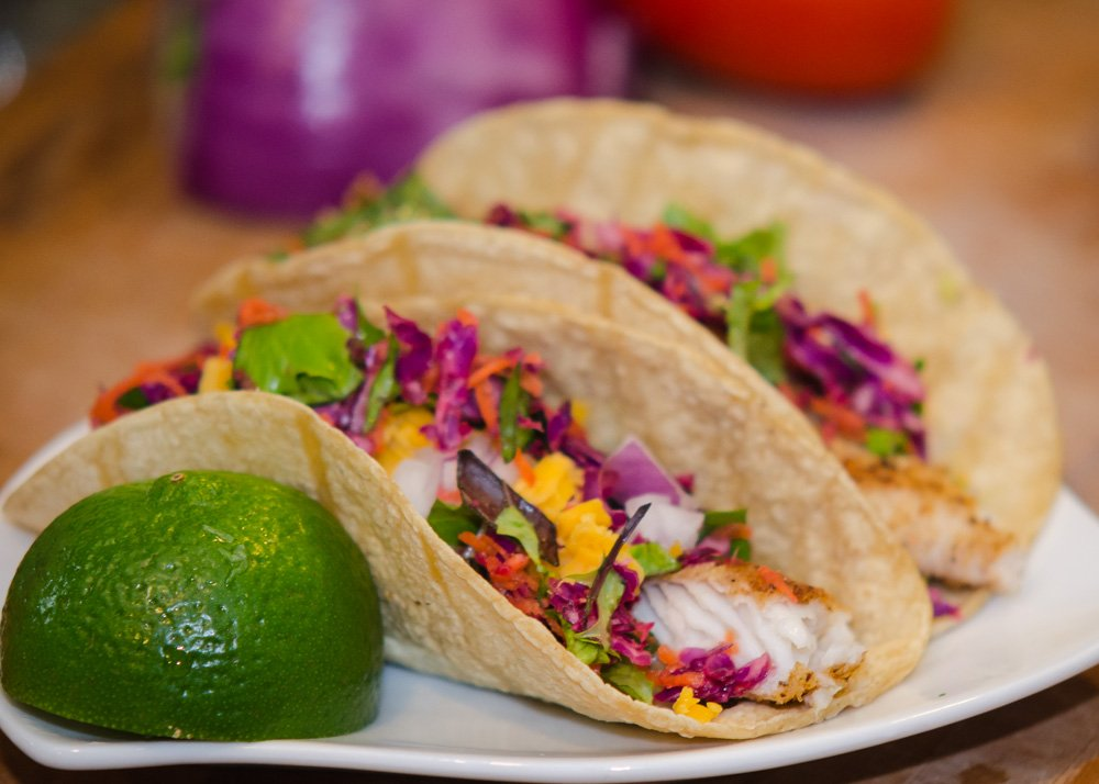 Baja Fish Tacos with Avocado and Tilapia - Simple Awesome Cooking