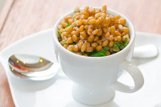 Pressure Cooked Barley with Parsley & Shallots