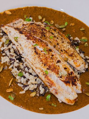 Classic Mexian Mole Sauce with Tilapia