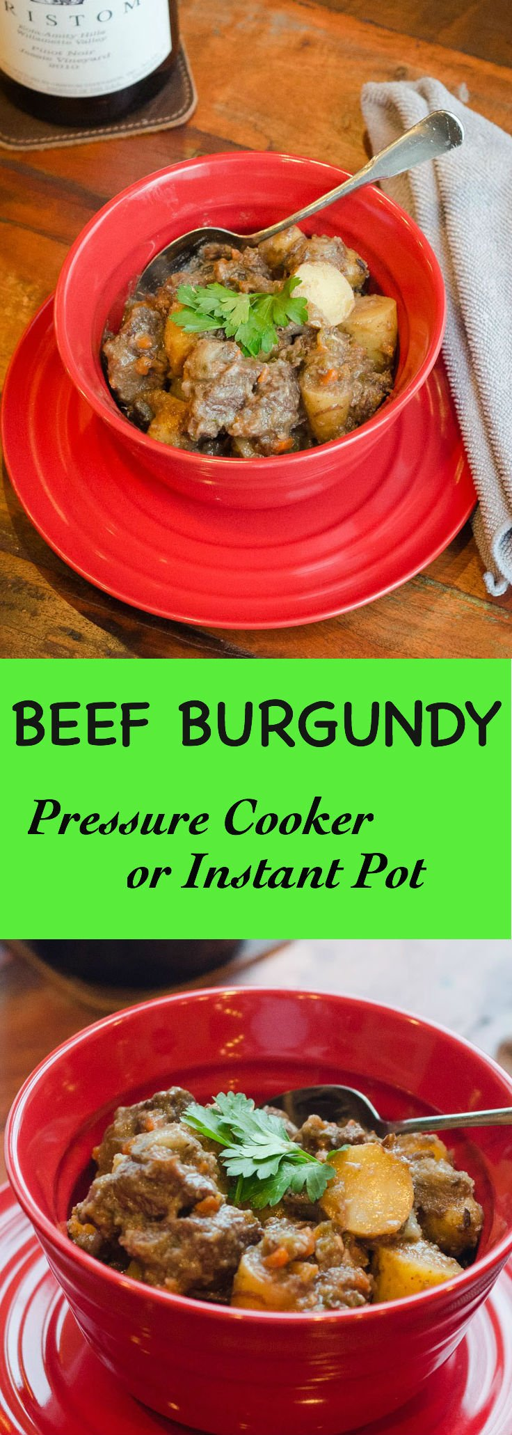 Beef Burgundy in a Pressure Cooker or Instant Pot