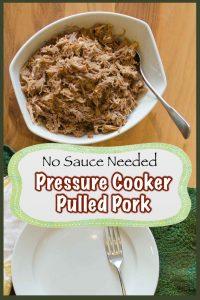 No Sauce Pressure Cooker Pulled Pork 1