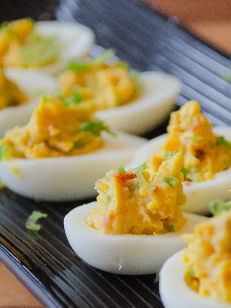 Miso-Bacon Deviled Eggs